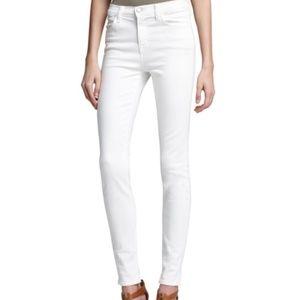 J Brand white high waist skinny jeans